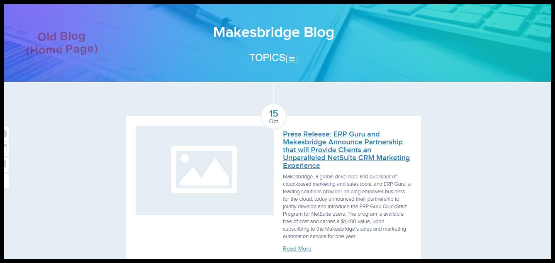 Makesbridge Old Blog