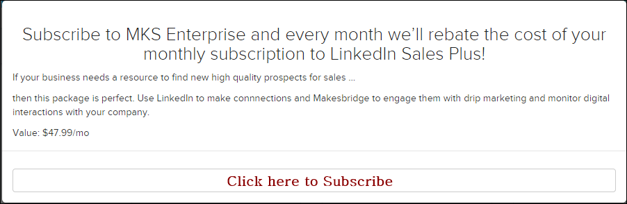 Makesbridge Freedom Offer- LinkedIn Premium