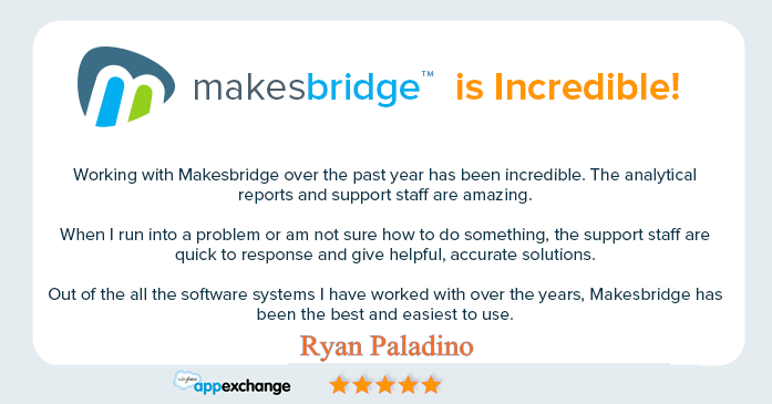 Makesbridge Customer Testimonial